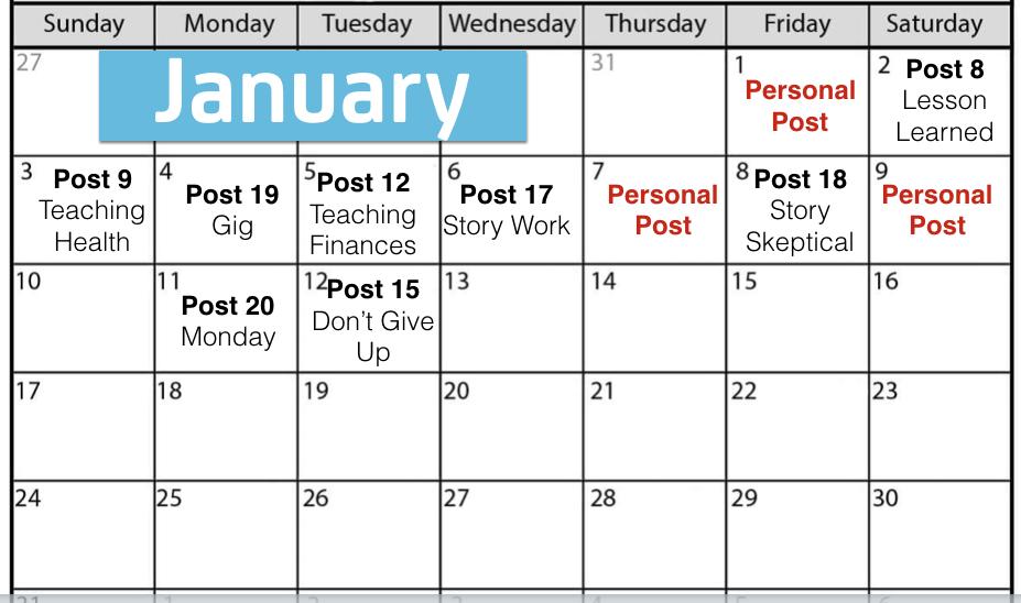Content Calendar for Network Marketing